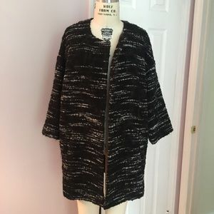 Eileen Fisher Tweed Coat - size Small